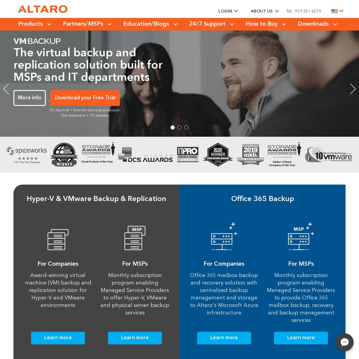 ArchiveBay.com - altaro.com - Altaro- Backup Software for Hyper-V, VMware, Office 365 and Windows Servers
