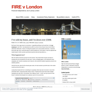 FIRE v London - Financial independence, but in pricey London