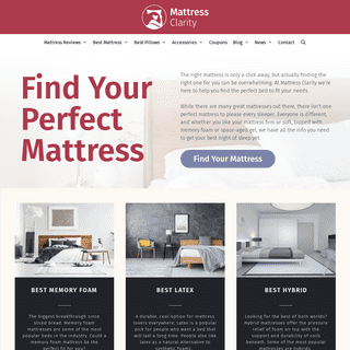 Mattress Clarity - Sleep Tips and Product Reviews, Personally Tested