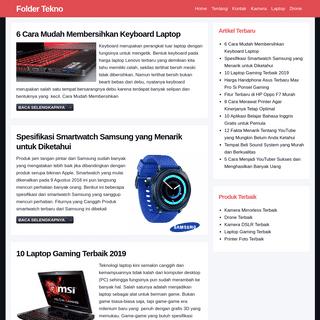 Folder Tekno - Informasi Produk Teknologi Terbaik Saat Ini
