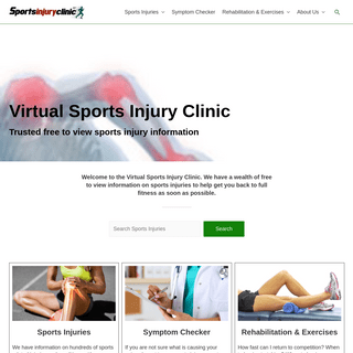 Virtual Sports Injury Clinic - Sportsinjuryclinic.net
