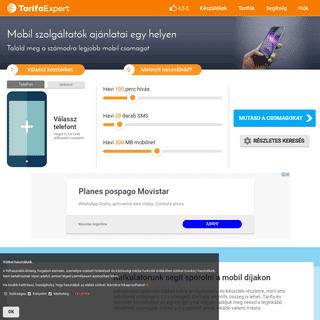 Mobil szolgáltatók ajánlatai egy helyen - Tarifa összehasonlítás
