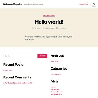 Diabolique Magazine - Just another WordPress site