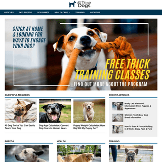 All Things Dogs - Dog Breeds, Training and Behavior
