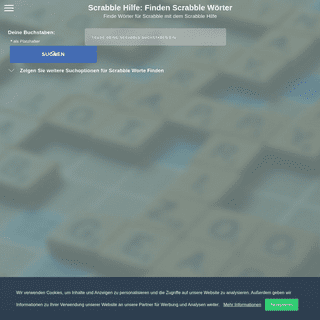 Finden Scrabble Wörter- Scrabble Hilfe