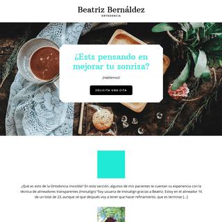 Beatriz Bernáldez – Ortodoncia