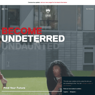 Welcome to the University of Salford - University of Salford, Manchester