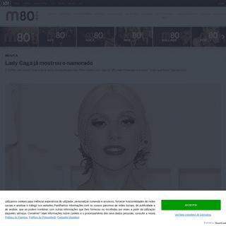 Lady Gaga já mostrou o namorado - M80 Rádio