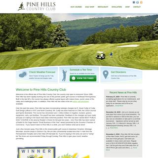 Pine Hills Country Club, Scranton Golf Courses, NEPA Golf