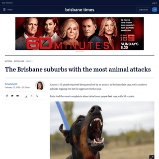 The Brisbane suburbs with the most animal attacks