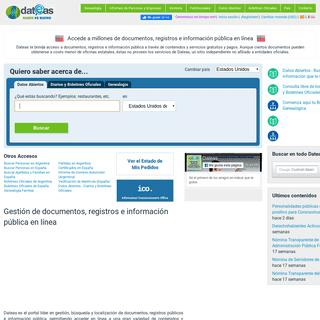 Dateas.com - Accede a millones de documentos, registros e información pública en línea