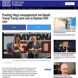 Prachtig! Mega campagnestunt van Donald Trump! Trump racet mee in Daytona 500-race – De Dagelijkse Standaard