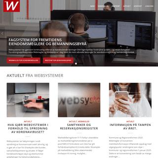 Websystemer AS – Programvare for eiendomsmeglere og bemanningsbyrå