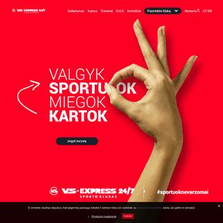 Pagrindinis - VS-Express 24-7 Sporto klubas