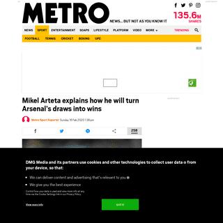 Mikel Arteta explains how he will turn Arsenal's draws into wins - Metro News