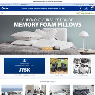 Furniture, Mattresses, Home Decor, Bedding, Bath - JYSK Canada