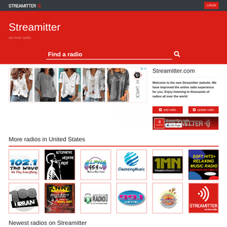 Streamitter.com - we love radio - Listen to thousands of radios worldwide.