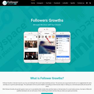 FollowerGrowths - Provide You Premium Social Media Services
