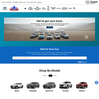 New & Used Hyundai Dealership in Friendswood TX - Ron Carter Hyundai