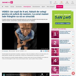 VIDEO- Un copil de 9 ani, hărțuit de colegi pentru că suferă de nanism; I-a cerut mamei sale frânghie ca să se sinucidă -
