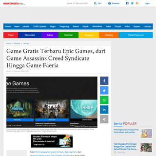 ArchiveBay.com - wartakota.tribunnews.com/2020/02/21/game-gratis-terbaru-epic-games-dari-game-assassins-creed-syndicate-hingga-game-faeria - Game Gratis Terbaru Epic Games, dari Game Assassins Creed Syndicate Hingga Game Faeria - Warta Kota