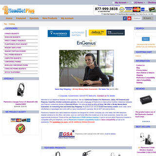 Plantronics Telephone Headsets, Jabra Phone Headset