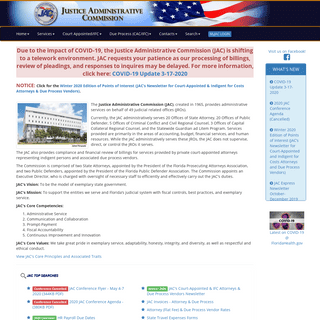 ArchiveBay.com - justiceadmin.org - Justice Administrative Commission- Home