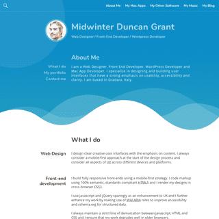 Midwinter Duncan Grant - Web Designer - Front-End Developer - Wordpress Developer