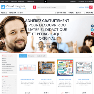 Achat, vente et partage de matériel didactique - MieuxEnseigner Belgique