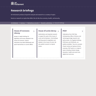 Research briefings