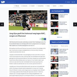 ArchiveBay.com - www.voetbalprimeur.nl/nieuws/917153/jong-ajax-geeft-het-helemaal-weg-tegen-nac-zorgen-om-mazraoui.html - Jong Ajax geeft het helemaal weg tegen NAC, zorgen om Mazraoui - Voetbalprimeur