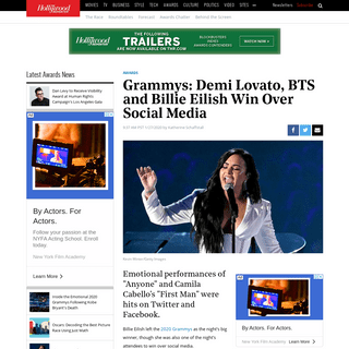 ArchiveBay.com - www.hollywoodreporter.com/news/demi-lovato-bts-billie-eilish-top-social-media-grammys-2020-1273589 - Demi Lovato, BTS, Billie Eilish Top Social Media During Grammys 2020 - Hollywood Reporter