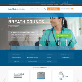 Smiths Medical Global Homepage- Portex Medex Deltec Level1 BCI CADD Pneupac Surgivet Graseby Jelco Medfusion Wallace