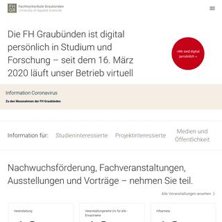 Fachhochschule Graubünden - FH Graubünden