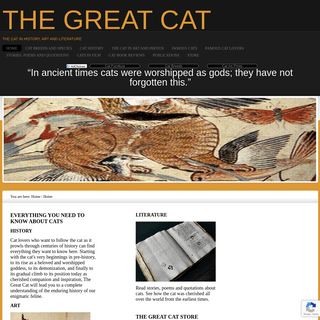 THE GREAT CAT - The Cat in History, Art and Literature