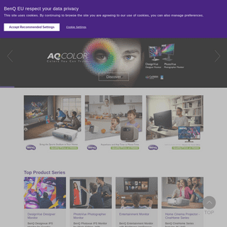 BenQ Europe Homepage - Projector, Monitor, Business Display, LED Lightning, Speakers, ZOWIE.