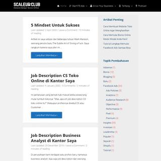 SCALE UP CLUB - Website Belajar Bisnis Online