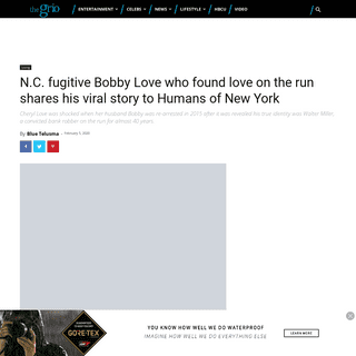 N.C. fugitive Bobby Love who found love on the run shares his viral story to Humans of New York - TheGrio