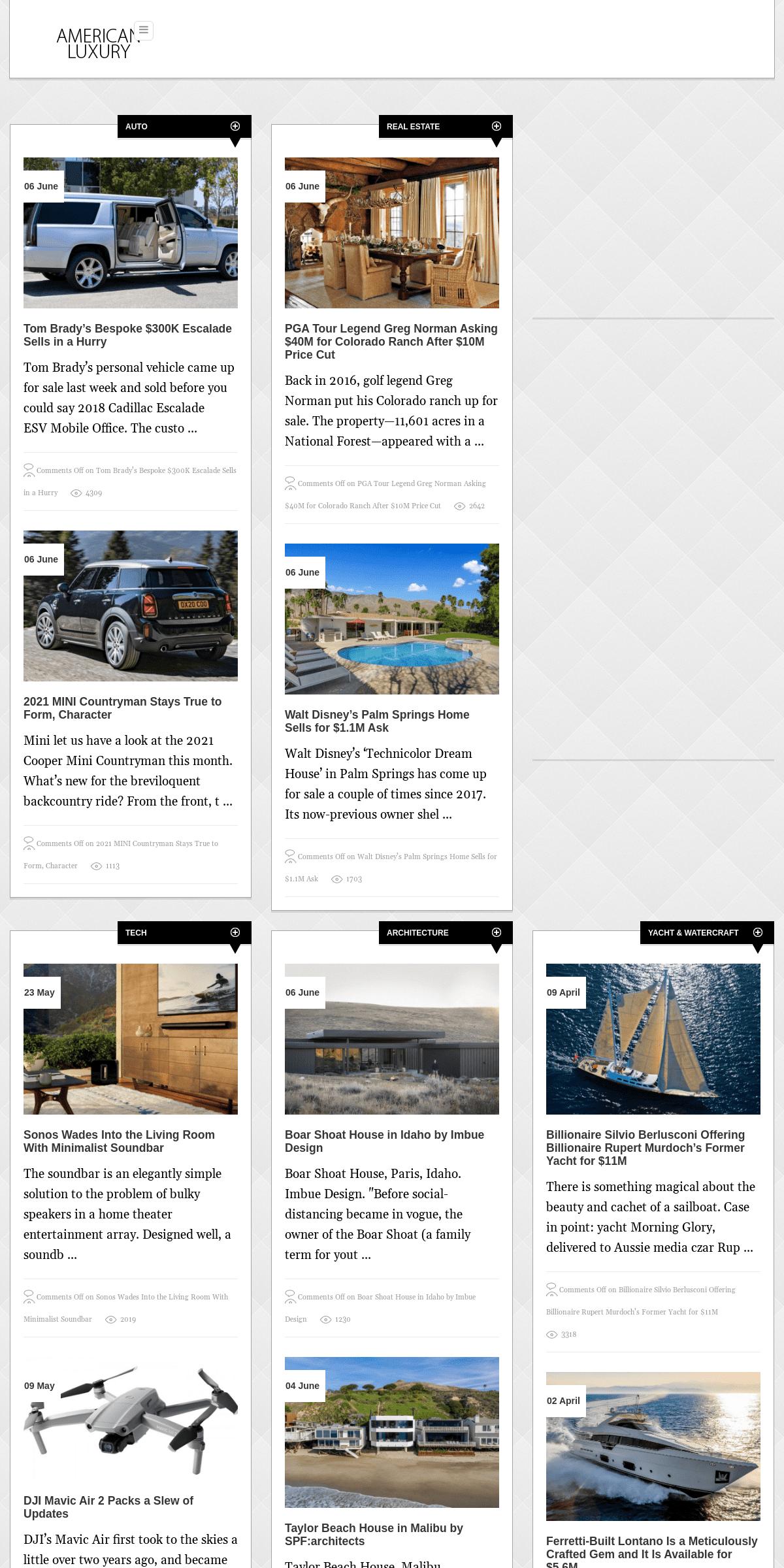 ArchiveBay.com - amlu.com - Luxury News - American Luxury