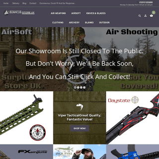ArchiveBay.com - surplusstore.co.uk - Welcome To SurplusStore.Co.UK - Air Weapons - Airsoft - Much, Much More!