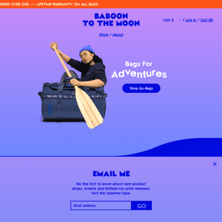 ArchiveBay.com - baboontothemoon.myshopify.com - BABOON - Duffle Bags for Adventure