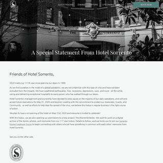 Hotel Sorrento - Historic Boutique Hotel Seattle