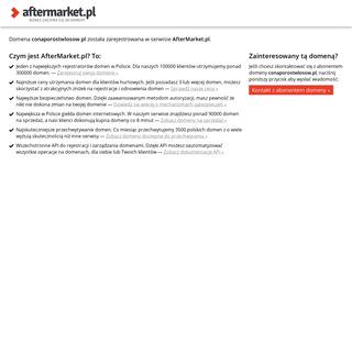 AfterMarket.pl -- domena conaporostwlosow.pl