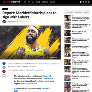 ArchiveBay.com - clutchpoints.com/lakers-news-markieff-morris-plans-to-sign-with-la/ - Lakers news- Veteran Markieff Morris plans to sign with LA