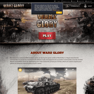 ArchiveBay.com - war2glory.com - Official Communitypage - War2 Glory - free Browsergame