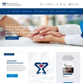 - Pharmaceutical Society of Australia