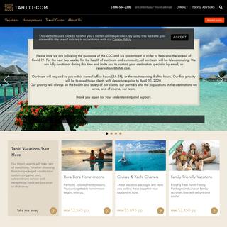 Tahiti Vacation and Honeymoon Specialists - Tahiti.com