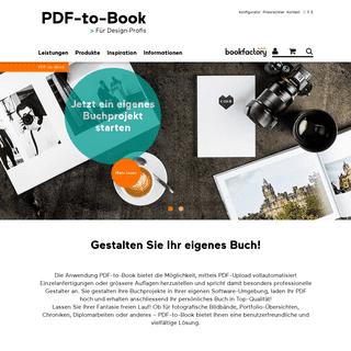 PDF-to-Book - Für Design Profis - Bookfactory