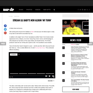Stream Lil Baby's New Album 'My Turn' - Rap-Up