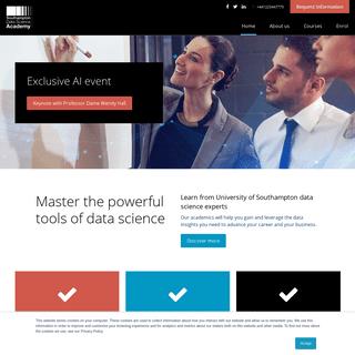 Study Data Science Online - Southampton Data Science Academy